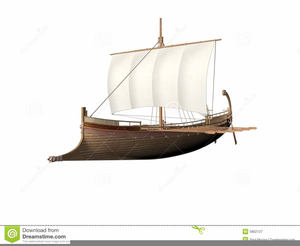 Ancient Greek Ship Clipart.
