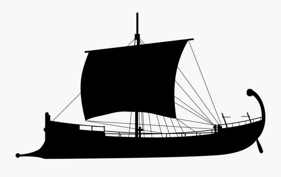Ancient, Ship, Silhouette, Antiquity, Sailing, Boat.