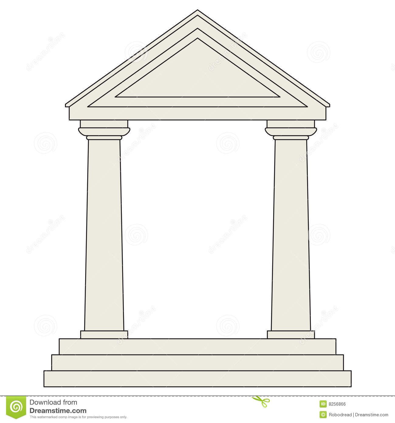 greek temples clipart.