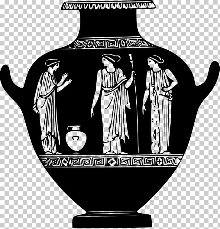 Pottery of ancient Greece Vase, greece PNG clipart.
