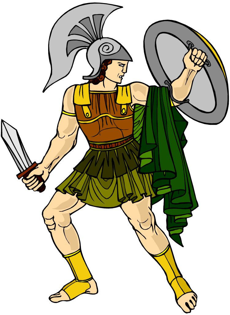 GOD ARES ANCIENT GREECE clipart.