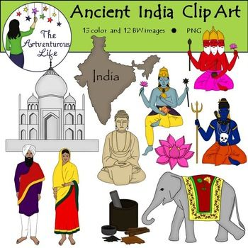 Ancient India Clip Art.