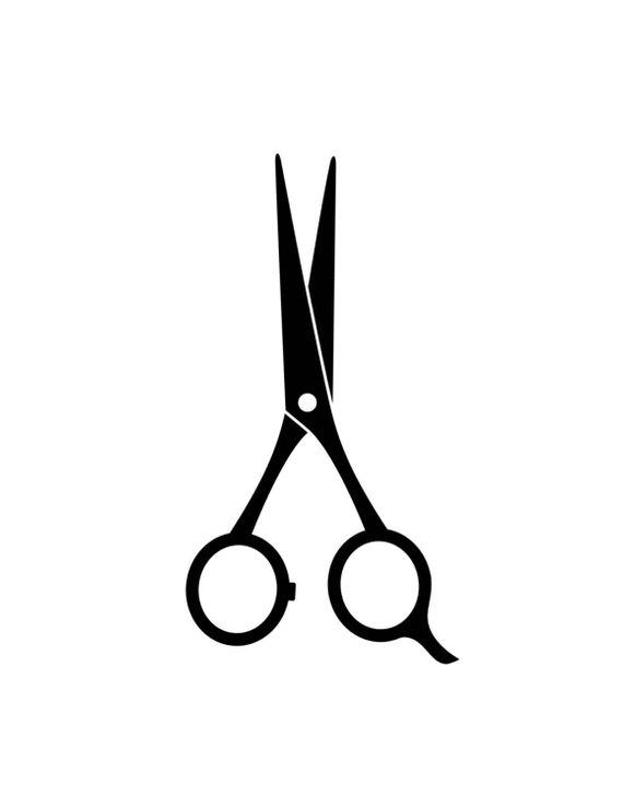 Printable A4 digital download Black & White Scissors Art.