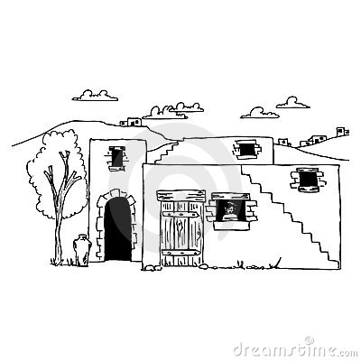 Ancient House Clipart.
