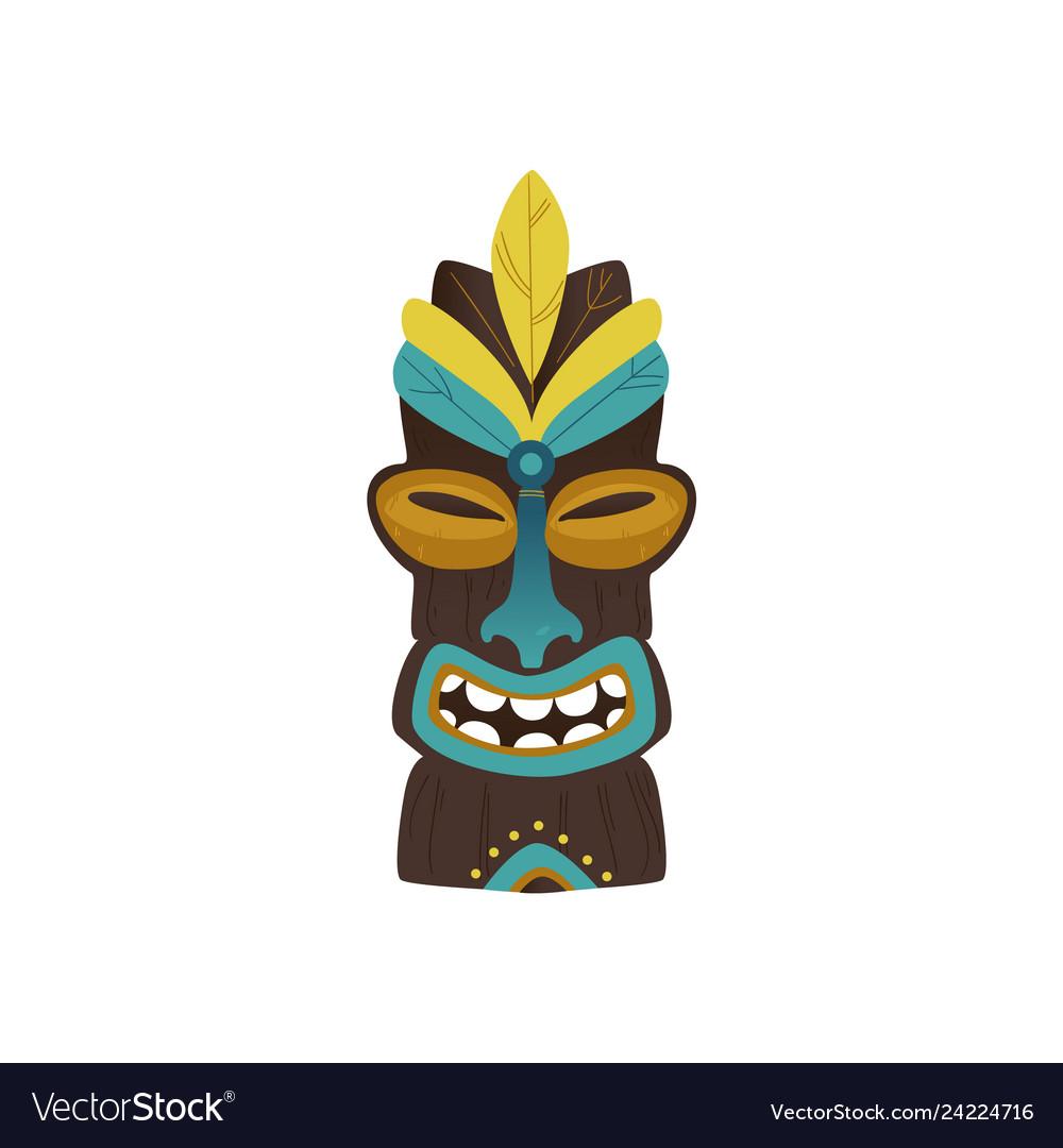 Maya hawaiian ethnic idol totem icon.