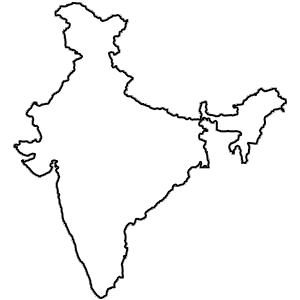 India Map Drawing.