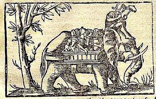 16th century rendition of Porus\'s elephant cavalry. #history.