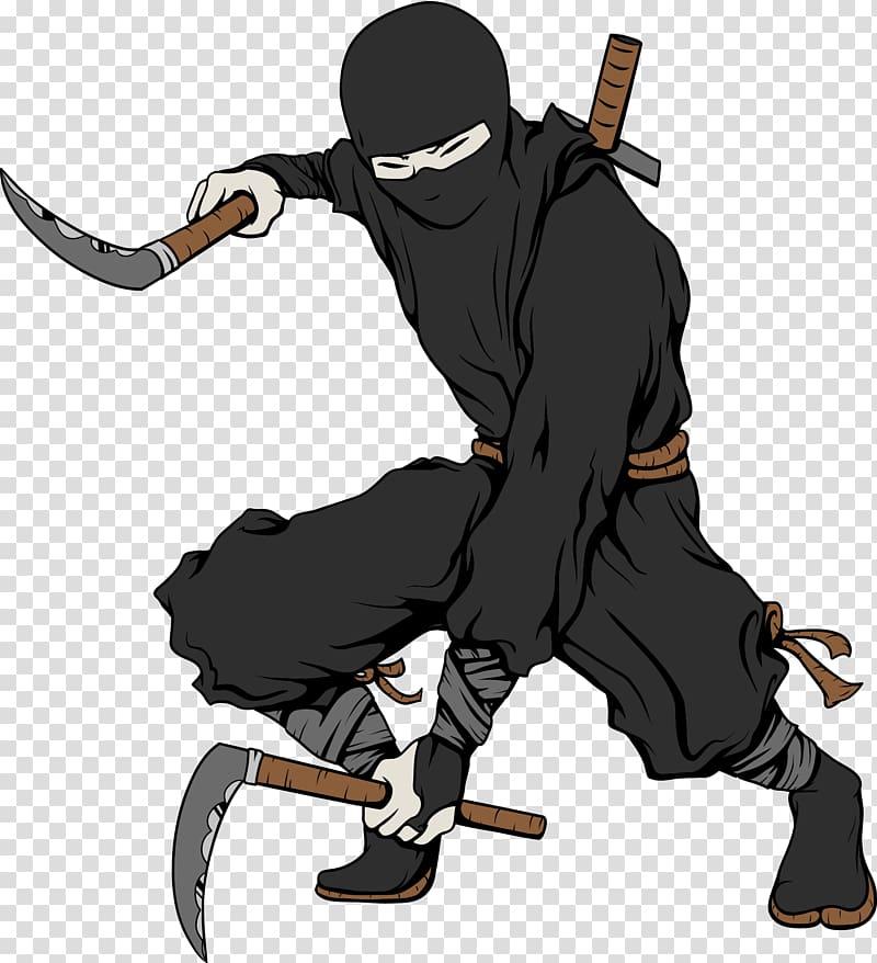 Ninja holding weapon illustration, Teenage Mutant Ninja.