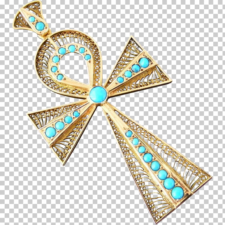 Turquoise Ankh Ancient Egypt Egyptian Revival architecture.