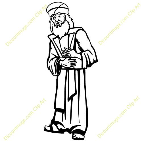 Jewish Priest Clipart #1.