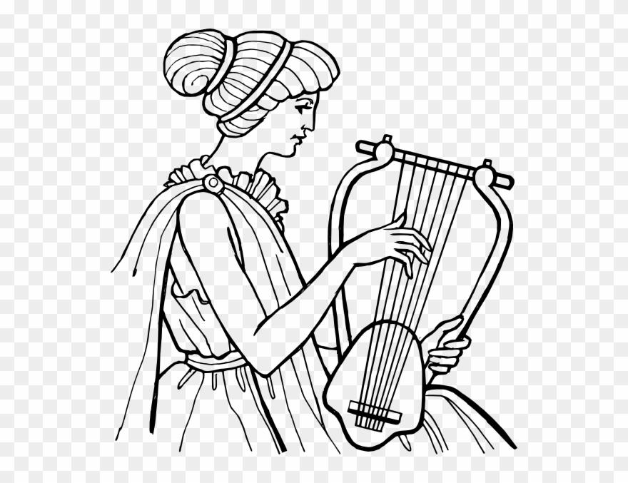 Free Vector Lyre Musical Instrument Clip Art.