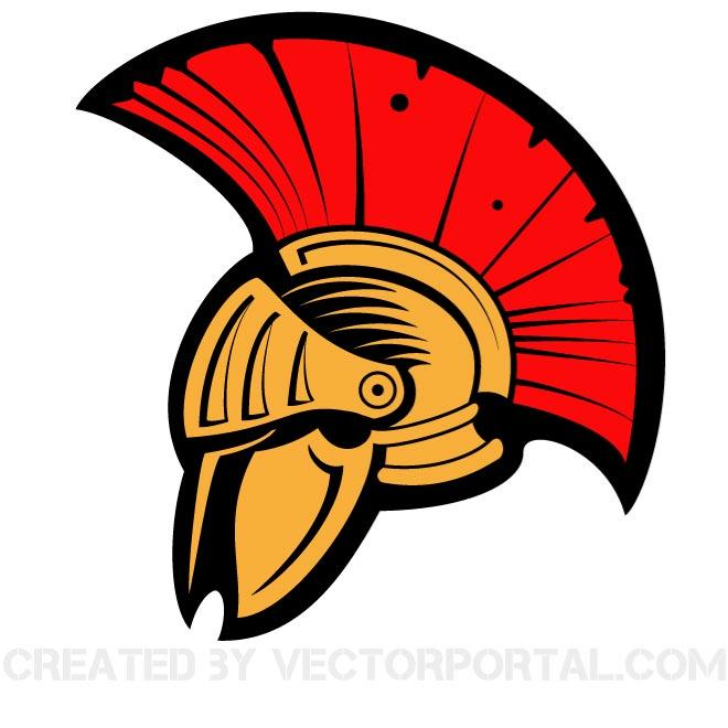 ANCIENT HELMET CLIP ART VECTOR.