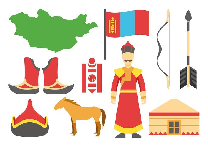 Free Mongolian Icons Vector.
