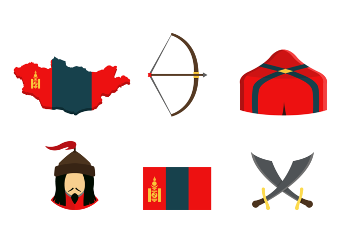 Mongol Icons Free Vector Pack.