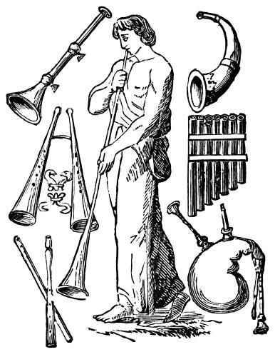 Ancient Greek Musical Instruments.