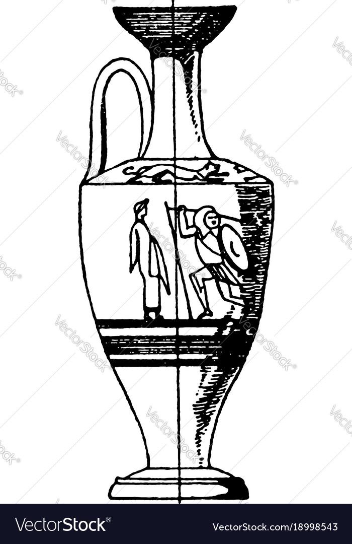 Greek lekythos is a type of ancient greek vessel.