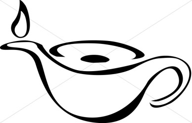 Oil Lamp Black And White Clipart.