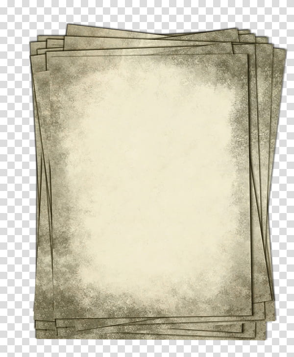 Old papers transparent background PNG clipart.