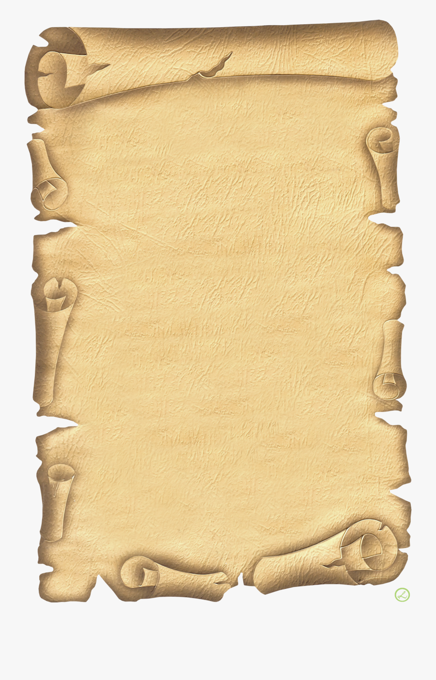 Old Paper Border , Free Transparent Clipart.
