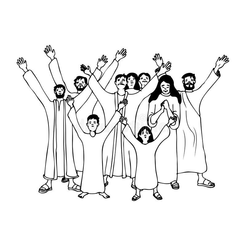 Ancient Crowd Stock Illustrations.