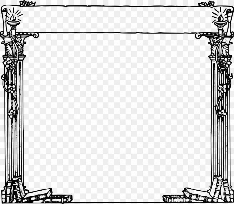 Picture Frames Column Ancient Roman Architecture Clip Art.
