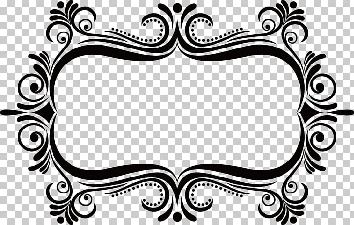 Frame Stock photography , Classic ancient flower box, black.