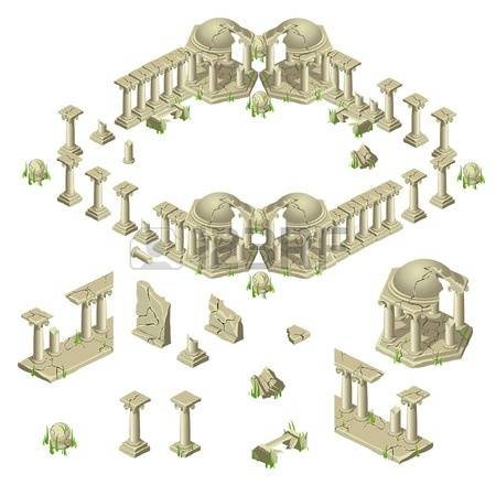 349 Ancient Remains Stock Vector Illustration And Royalty Free.