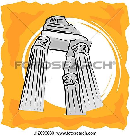 Clipart of Ancient Remains u12693030.