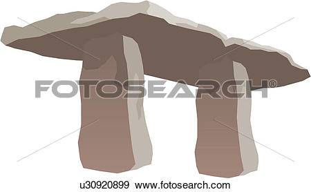 Clip Art of Ancient remains u30920899.