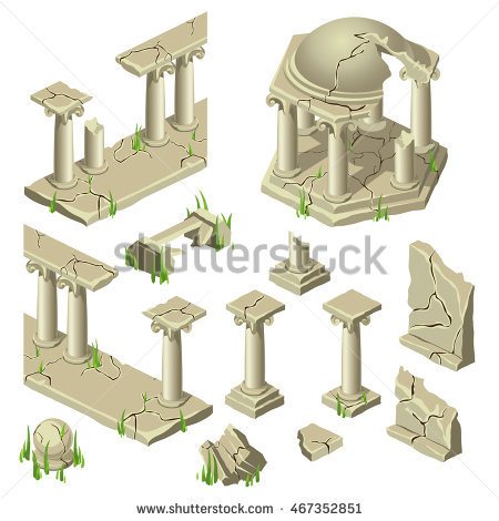 Ancient Ruins Stock Photos, Royalty.