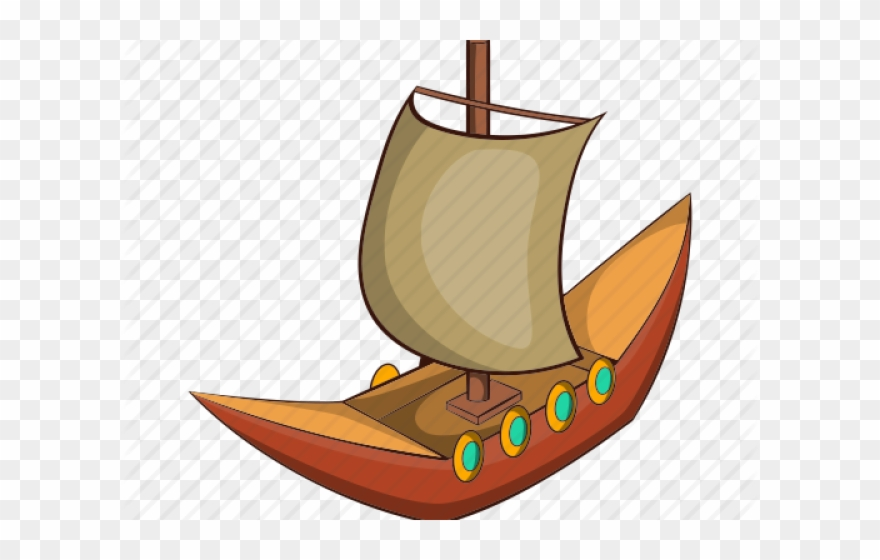 Ancient Ship Cartoon Png Clipart.