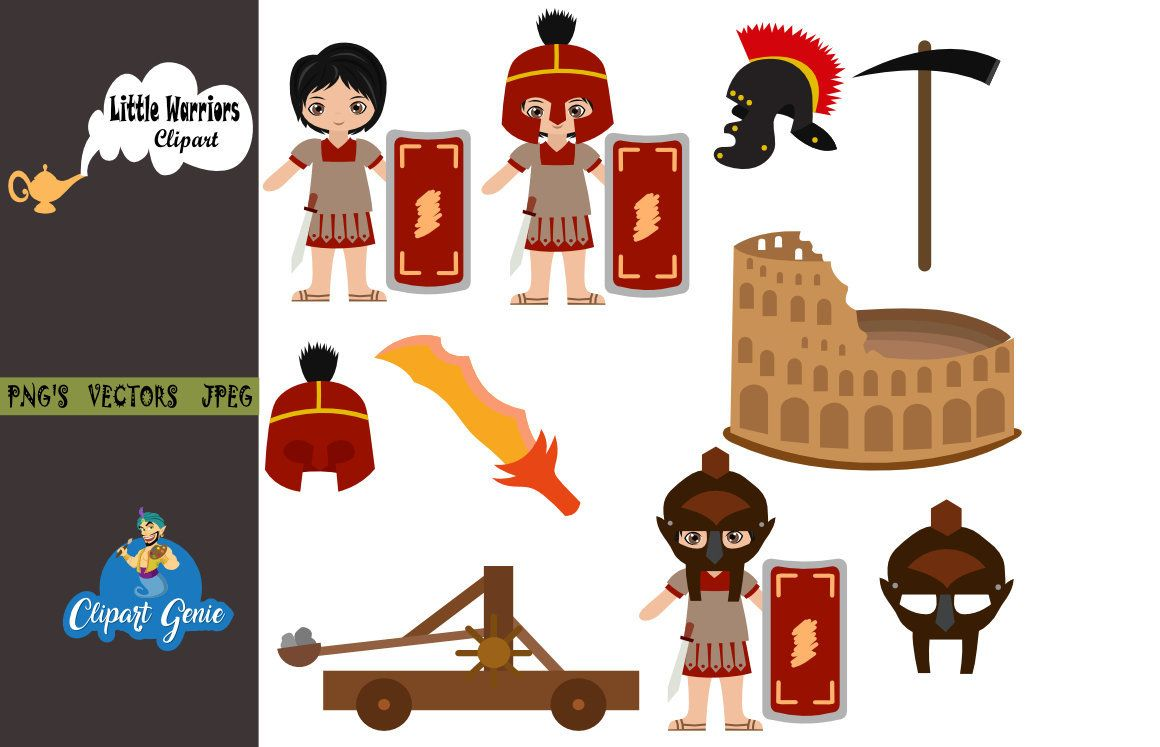 Roman, Colosseum Clipart, Ancient Roman clipart, warrior.