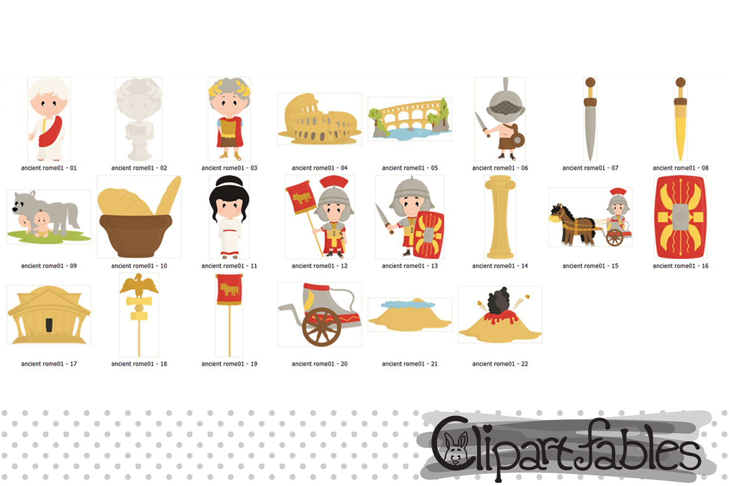 Ancient Rome clipart, Travel clip art, Roman empire art By.