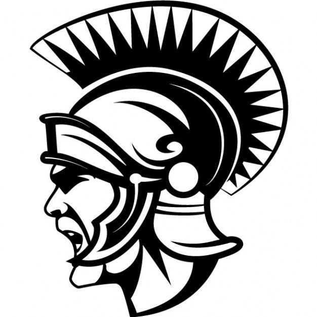 Ancient roman soldier with helmet.