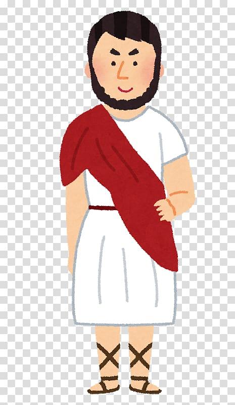 Man wearing white dress , Ancient Greece Ancient Rome Roman.