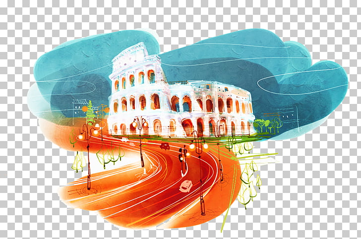 Colosseum Soul Land Ancient Roman architecture Painting.