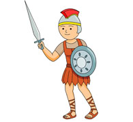 Ancient roman soldier with sword clipart » Clipart Station.