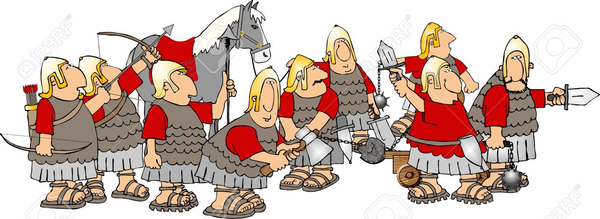 Ancient Roman Soldiers Clipart.