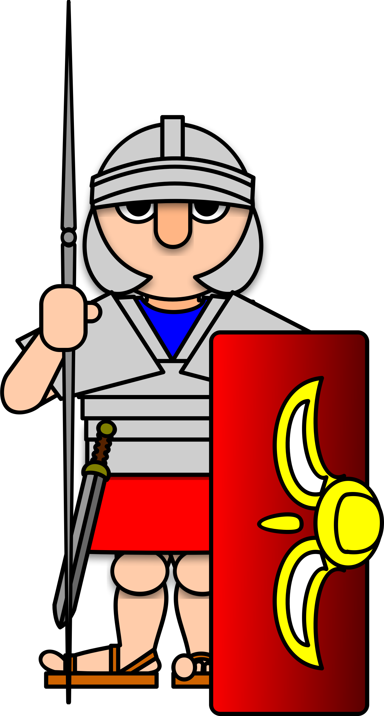 Ancient Soldier Clipart.