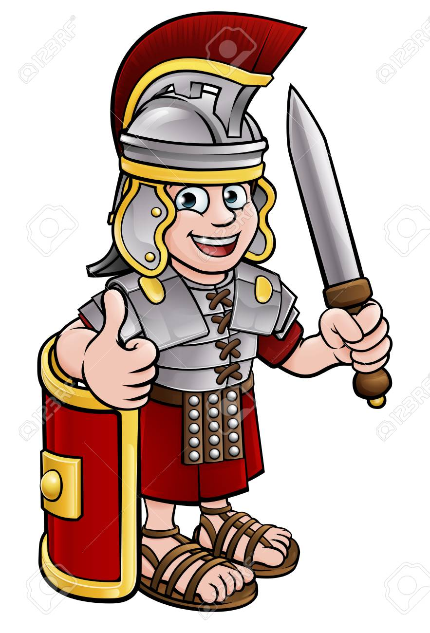 Ancient Roman Soldier » Clipart Station.