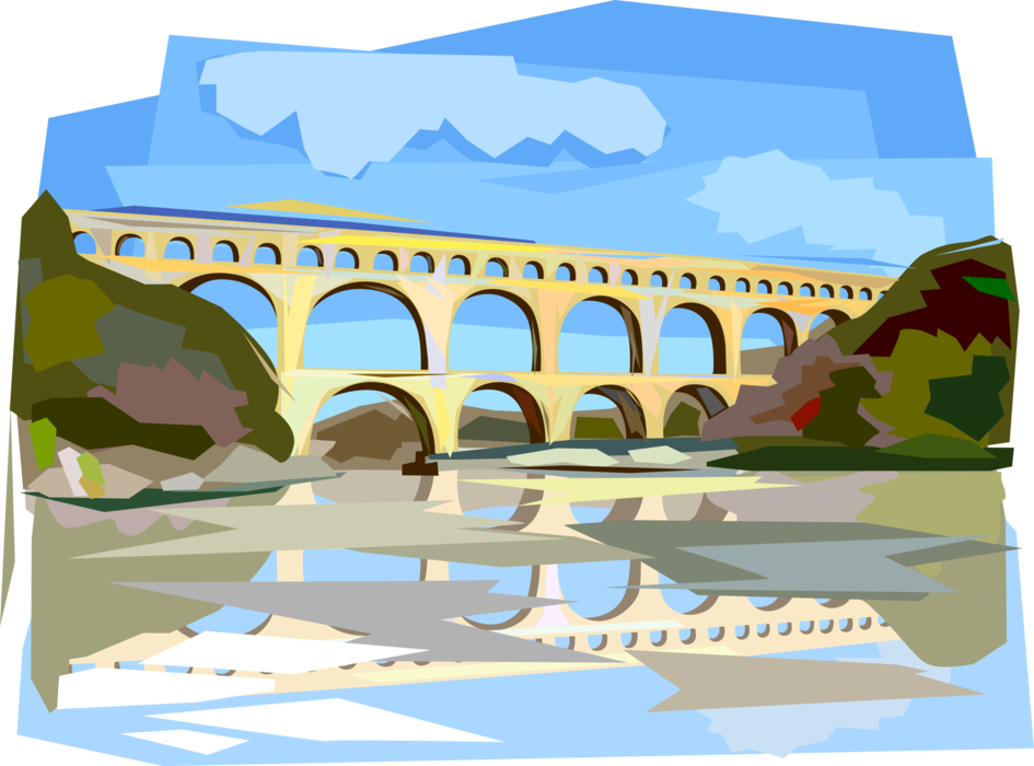 Rome clipart aqueduct, Rome aqueduct Transparent FREE for.
