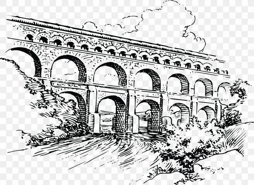 Roman Aqueduct Bridge Clip Art, PNG, 4000x2916px, Aqueduct.