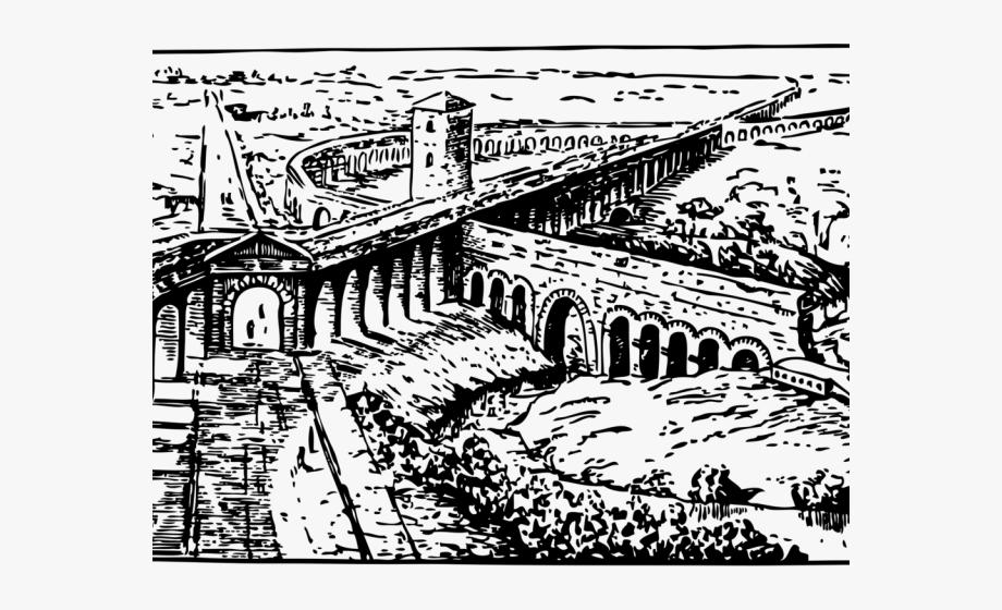 Rome Clipart Aqueduct.