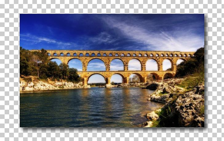 Pont Du Gard Nîmes Bridge Roman Aqueduct Remoulins PNG.