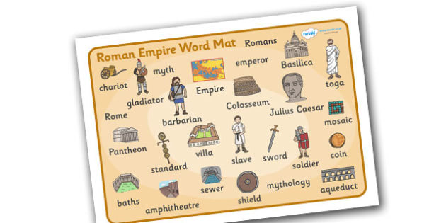 Roman Empire Word Mat.
