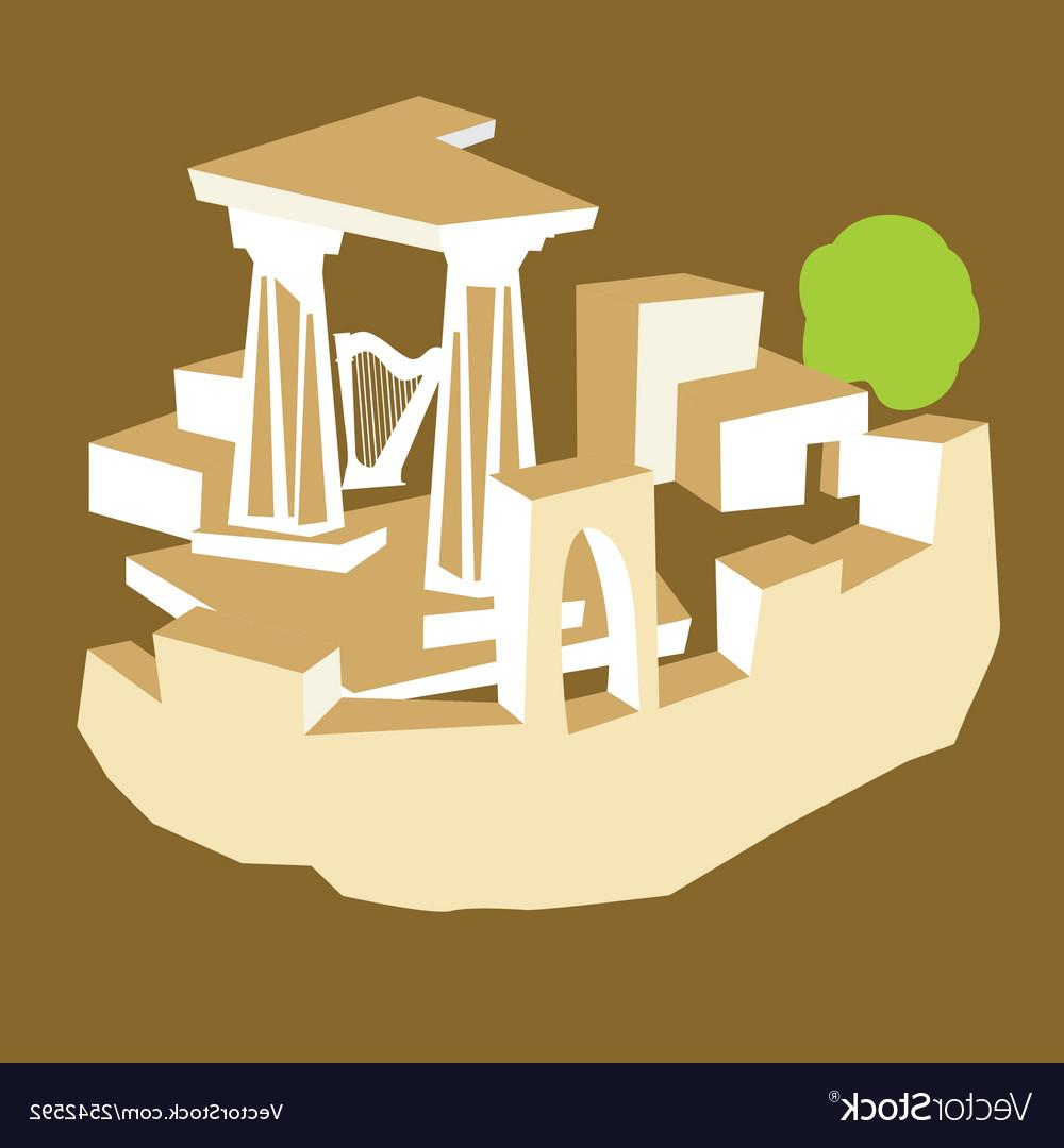 Unique Ancient Ruins Vector Library » Free Vector Art.