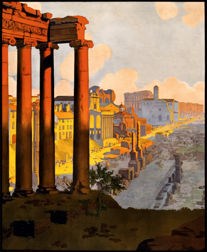 Rome vector image.