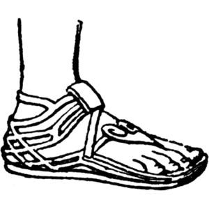 Greek Sandal Clipart.