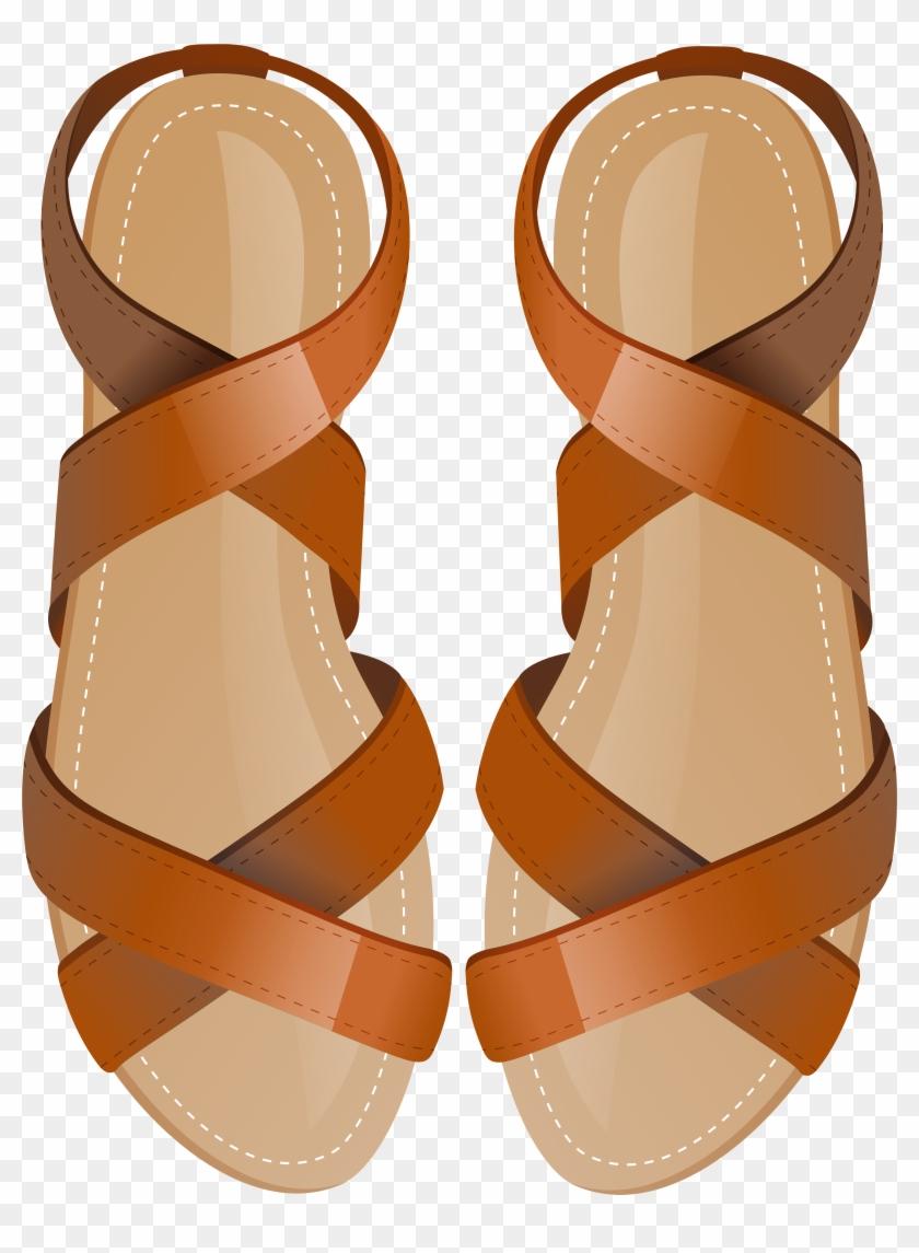 Brown Sandals Png Clip Art.