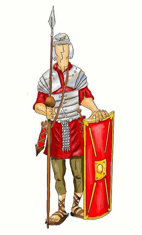 Ancient Rome Roman army Praetorian Guard , Drawing Roman.
